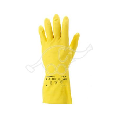 AlphaTec latex glove size M/7,5-8 yellow