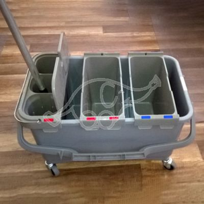 Koristuskäru TTS 28L 3-osaline WC-harjaga