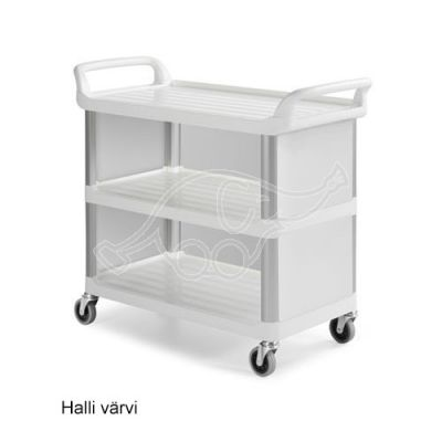 Shelf GREY A3700, polyprop. cart with al. stanchions