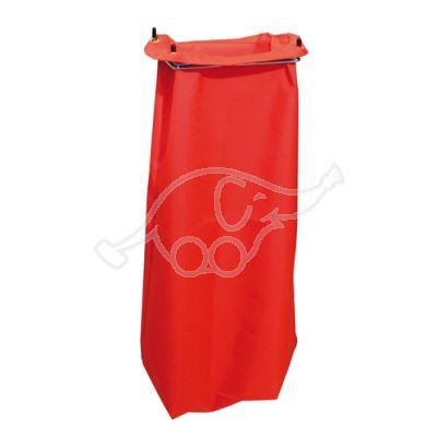 Netīro mopu maiss, sarkans, 26x18x70cm