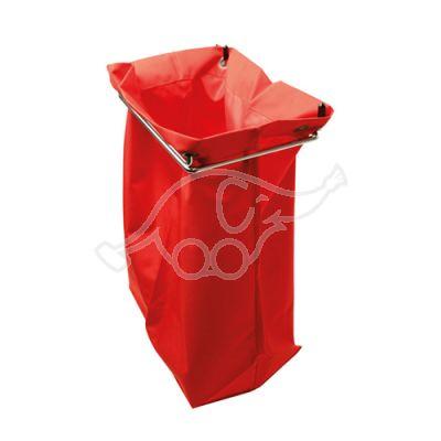 Netīro mopu maiss, sarkans, 26x18x42cm