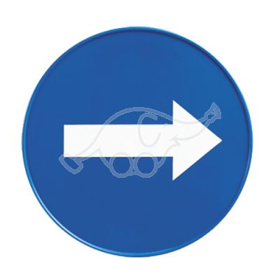 Blue round sign for pyramidal floor sign