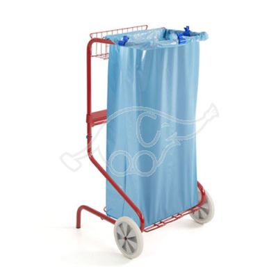 Varnished trolley Happy 120L with paperholder