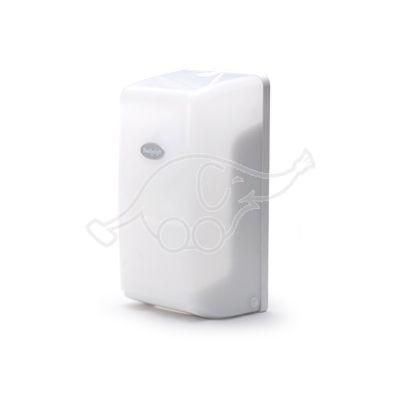 Dispenser for interfolded toilet tissue