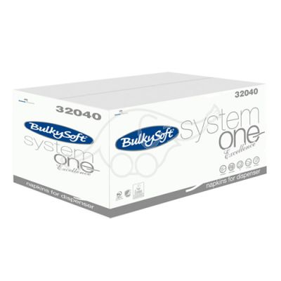 Napkins System One Excellence 2-ply, 21,5x16cm  200pc