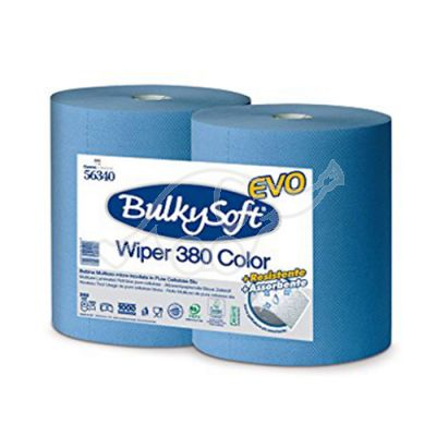 BulkySoft Premium industriālais papīrs, zils, 380 m, 2k (2gb/iepak.)