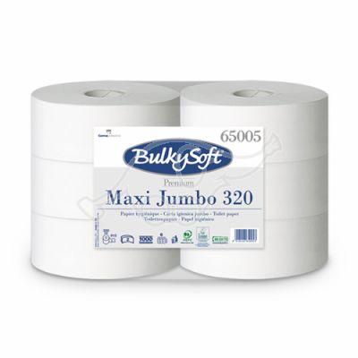 BulkySoft Premium Maxi Jumbo tualetes papīrs, 320 m, 2k (6 gb/iepak.)