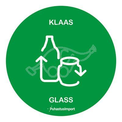 WASTE SORTING LABEL, KLAAS, green