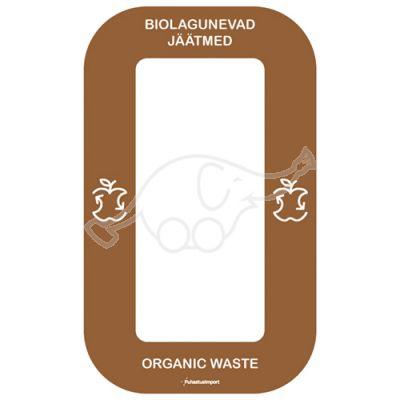 Waste sorting label Bin Multi BIOJÄÄTMED, brown