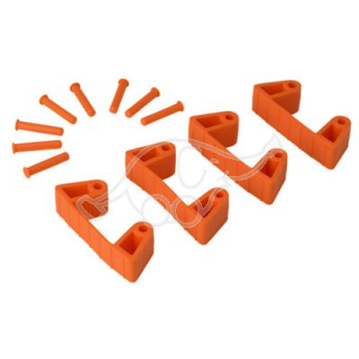 Rubber Clip x 4 for 1017 and 1018, 120 mm orange