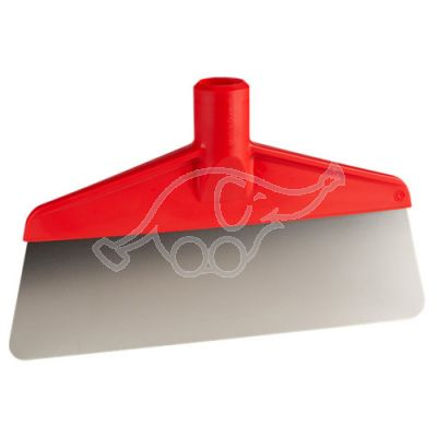 Scraper w/flexible steelblade 260mm red
