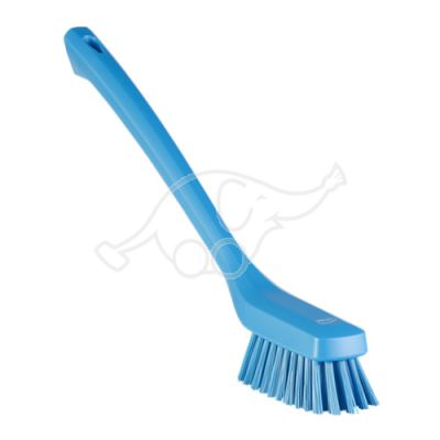 Narrow Cleaning Brush with Long Handle, 420 mm, Hard, Blue