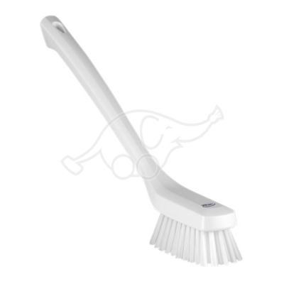 Narrow Cleaning Brush with Long Handle, 420 mm, Hard, White