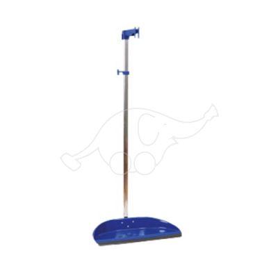 Dust pan wide, adjustable, blue metal