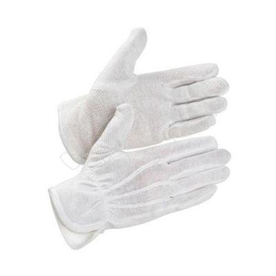 Cotton gloves with pvc dots XXL white