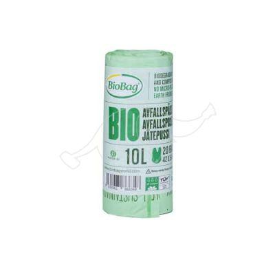 Garbage bag BioBag compostable 10L 20pcs/roll 42x54cm 15mic