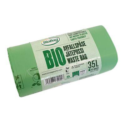 Garbage bag Biobag compostable 35L 25pcs/roll 58x77cm 23mi