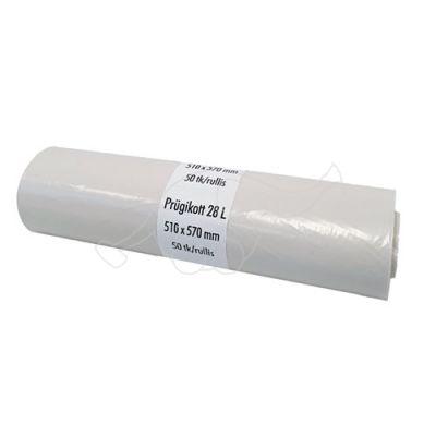 Atkritumu maisi 35 L, melni, 50gb rullī, 8 mkr 47x55, HDPE