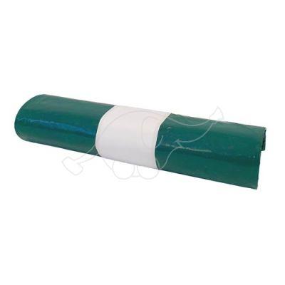 Atkritumu maisi 150L, zaļi, extra izturīgi, 55 mkr., 5 maisi rullī.
