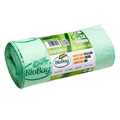 Garbage bag BioBag compostable 150L 75x115cm 5pcs/roll