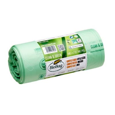 Garbage bag BioBag compostable 240L 7pcs/roll 1130x1400mm 17