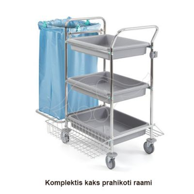 Trolley Tecno 62 chromed with 2 bag holder