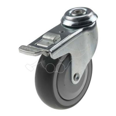 Wheel with brake 100mm for 629466 trolley