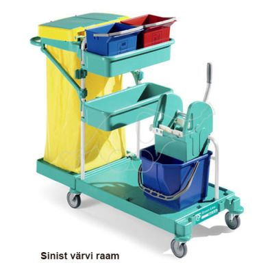 Cleaning trolley Green 20, blue frame