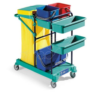 Service trolley Green 60 blue frame