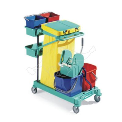 Cleaning trolley Green 160, blue frame