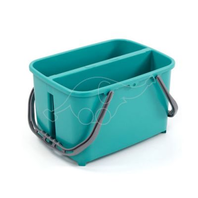 Professional bucket slim 11+11L with double handle, green