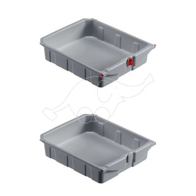 Drawer with key 10L for Magic Line/System trolleys, green