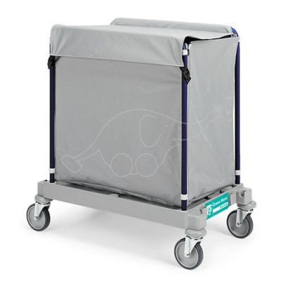 Linen Trolley Green Hotel 919 with cover, grey