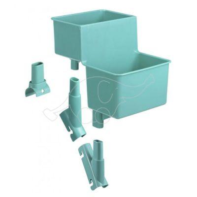 Plastik double bucket-support green