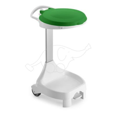 SMILE 120lt white with green lid 2 wheels