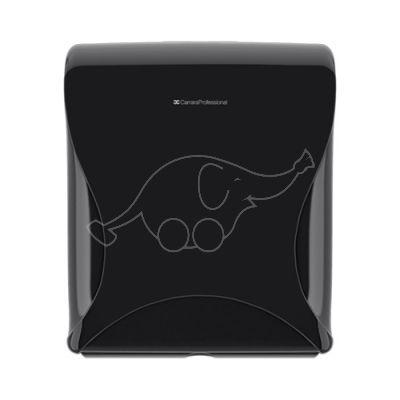 BulkySoft Essentia Maxi Jumbo Toilet Tissue Dispenser, black