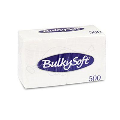 BulkySoft galda salvetes, 24x24 cm, baltas, 1k, 500gb/pakā (kastē 6 pakas)