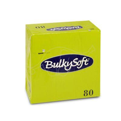 BulkySoft napkins 33x33cm, kiwi, 3-ply, 1/4, 80pcs/pack