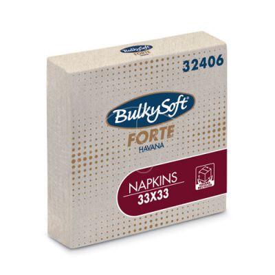 Bulkysoft Forte Havana napkins 2-ply 33x33