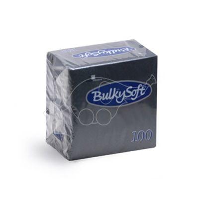 BulkySoft salvetes 24x24cm, melnas, 2 slāņu, (100gb. iepakojumā).