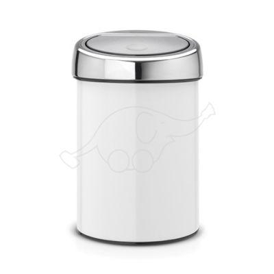Brabantia waste bin Touch Bin 3L,  White