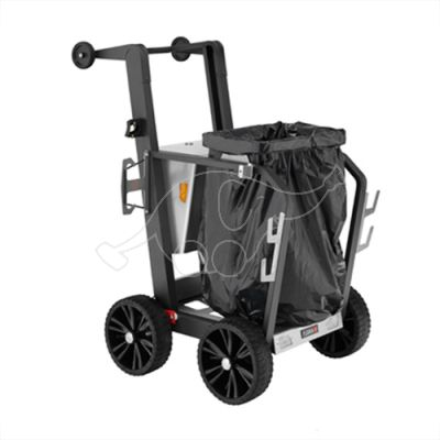 Flora outdoor trolley Accurato City with fix holder for bin