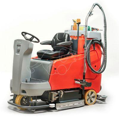 Floor scrubbing and vacuuming tool +adapter
