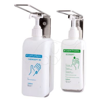 Wall mount for 0,5L bottle with arm stainless steel Chemi-Ph