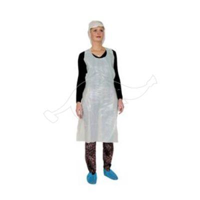 Disposable apron 120 x 70 cm, 100pcs/pack, valge