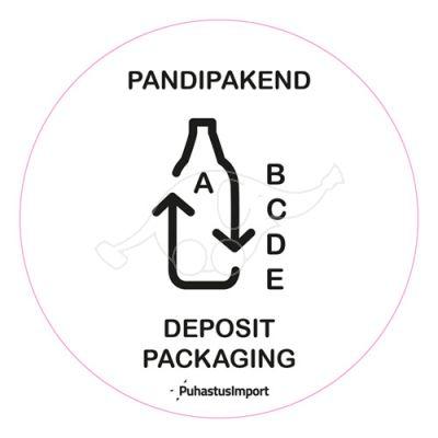 Waste sorting label, PANDIPAKEND, white