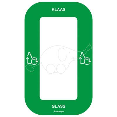 Waste sorting label Bin Multi KLAAS, green