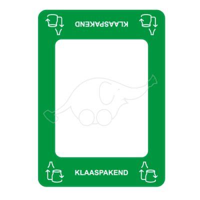 Waste sorting label Bin Commerzi KLAAS, green