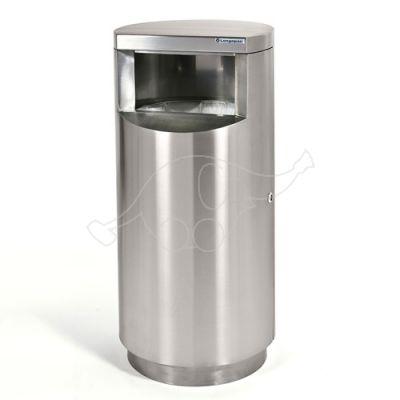 Longopac Bin Inox Mini outdoor bin