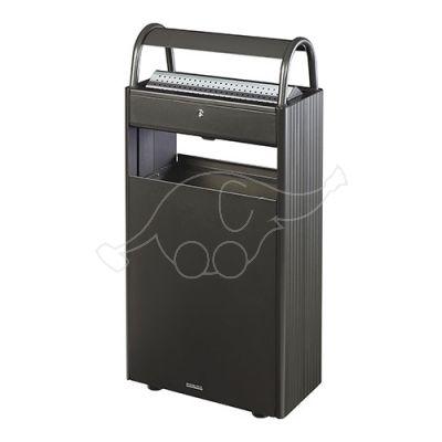 Dust bin/ashtray 60L Rossignol, grey